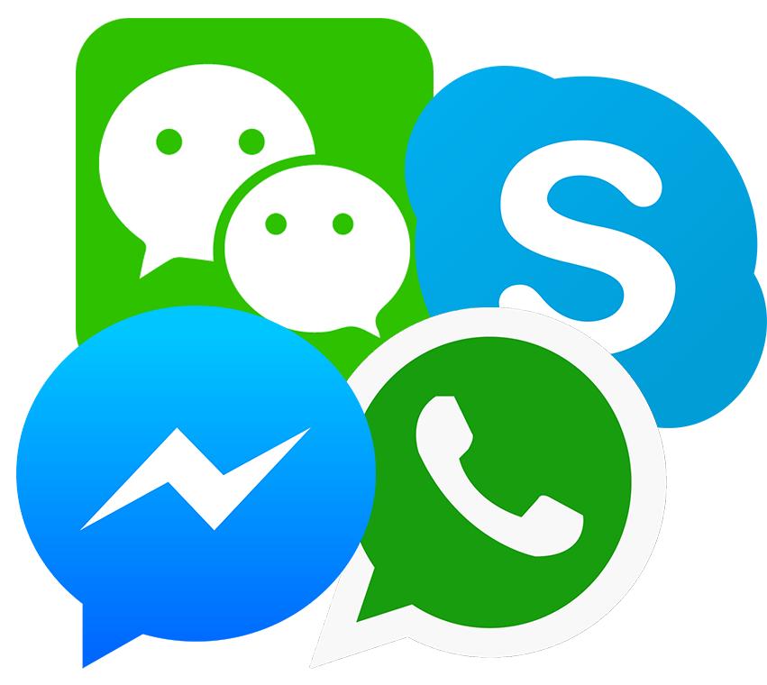 Exemples de messageries instantanées
