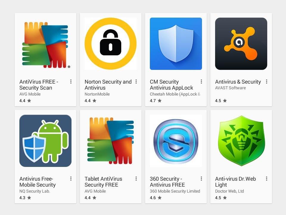 antivirus android liste