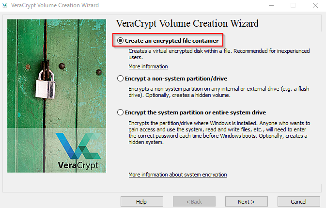 VeraCrypt-setup-volume